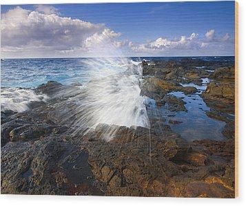 The Sea Erupts Wood Print by Mike  Dawson