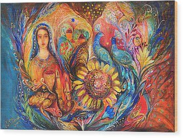 The Shabbat Queen Wood Print by Elena Kotliarker