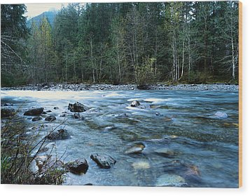Wood Print featuring the photograph The Snowqualmie River by Jeff Swan