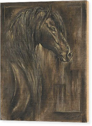 The Spirit Of A Horse Wood Print by Paula Collewijn -  The Art of Horses