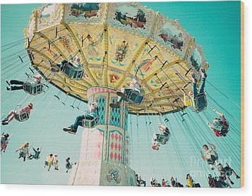 The Swings Wood Print by Kim Fearheiley