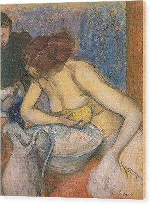 The Toilet Wood Print by Edgar Degas