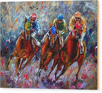 The Turn Wood Print by Debra Hurd
