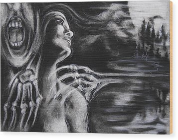 The Turning Point Wood Print by Christine Wagner