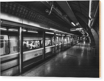 The Underground System Wood Print by David Pyatt