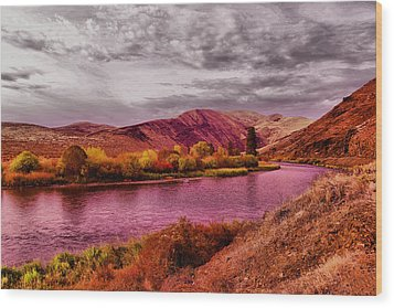 Wood Print featuring the photograph The Yakima River by Jeff Swan