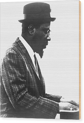 Thelonius Monk 1917-1982jazz Pianist Wood Print by Everett