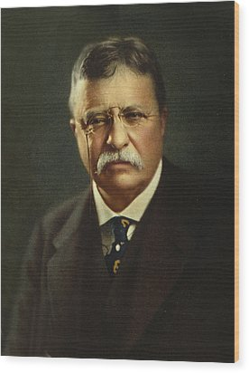 Theodore Roosevelt - President Of The United States Wood Print by International  Images