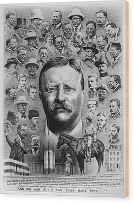 Theodore Roosevelt Wood Print by Granger