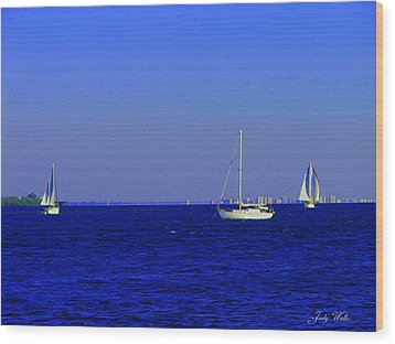 There Are Three Wood Print by Judy  Waller