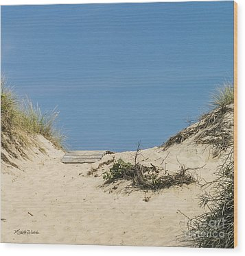 Wood Print featuring the photograph This Way To The Beach by Michelle Wiarda