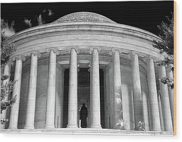 Wood Print featuring the photograph Thomas Jefferson Memorial  by Mitch Cat