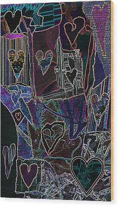 Thought Of Love Wood Print by Kenneth James