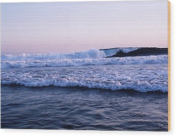 Wood Print featuring the photograph Three Waves by Lyle Crump