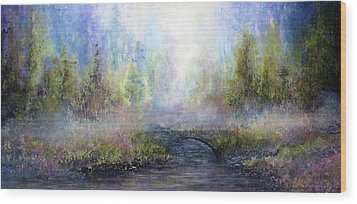 Through The Mist Wood Print by Ann Marie Bone