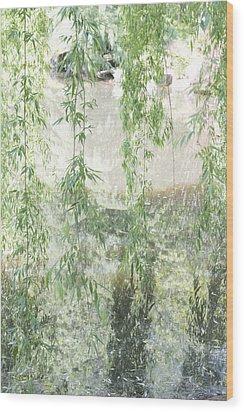 Through The Willows Wood Print