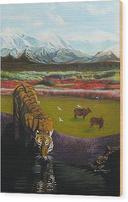 Tiger Wood Print by Howard Stroman