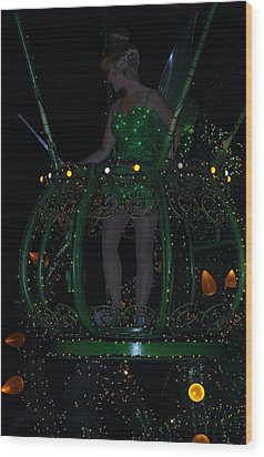 Tinker Bell Wood Print by Rob Hans
