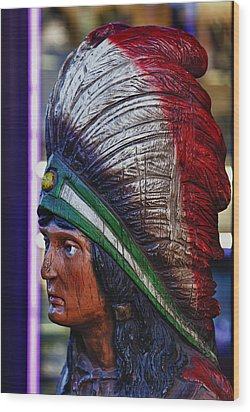 Tobacco Store Indian Wood Print by Robert Ullmann