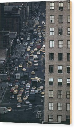 Traffic In New York City. View Wood Print by Everett