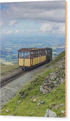 Wood Print featuring the photograph Train To Snowdon by Ian Mitchell
