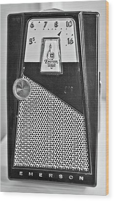 Wood Print featuring the photograph Transistor Radio Blown Up by Matthew Bamberg