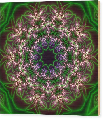 Transition Flower 10 Beats Wood Print