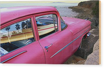 Treasure In The Chevy Wood Print by Ron Regalado