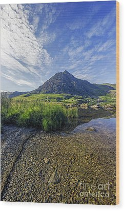 Wood Print featuring the photograph Tryfan Mountain by Ian Mitchell