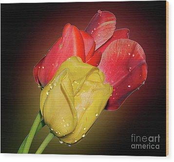 Tulips Wood Print by Elvira Ladocki