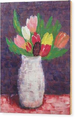 Tulips Wood Print by Tamara Savchenko