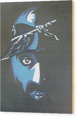 Tupac Wood Print by James Dolan