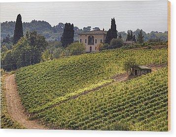 Tuscany Wood Print by Joana Kruse