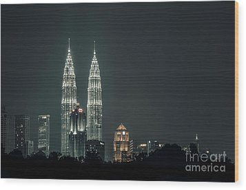 Wood Print featuring the photograph Twin Towers by Charuhas Images