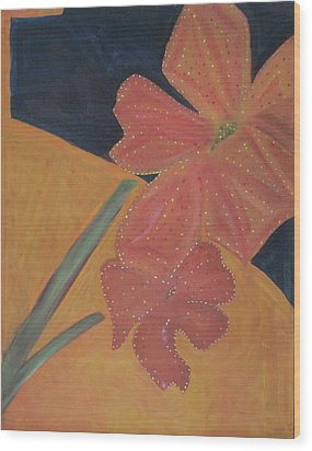 Two Flowers Wood Print by Patricia Cleasby