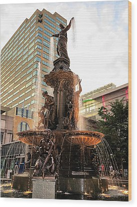 Tyler Davidson Fountain Wood Print