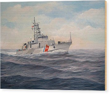 U. S. Coast Guard Cutter Monsoon Wood Print by William H RaVell III
