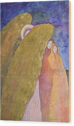 Under The Wing Of An Angel Wood Print by Lynda Hoffman-Snodgrass