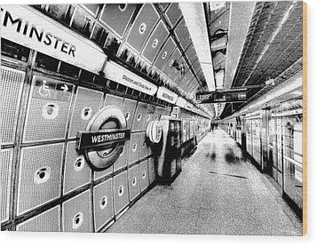 Underground London Art Wood Print by David Pyatt