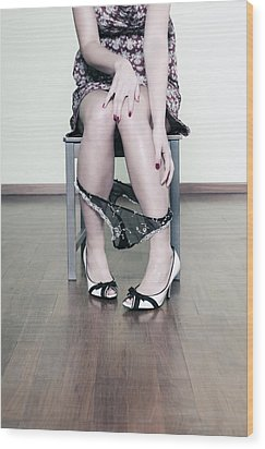Underpants Wood Print by Joana Kruse