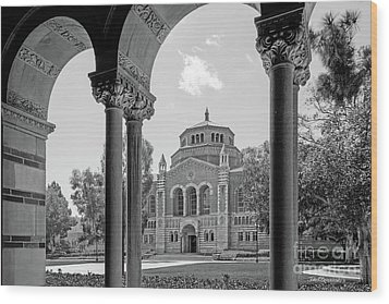 University Of California Los Angeles Powell Library Wood Print by University Icons