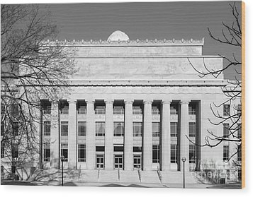 University Of Michigan Angell Hall  Wood Print by University Icons
