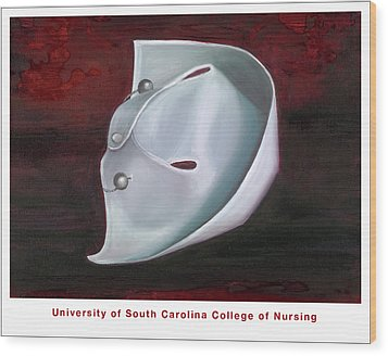 Wood Print featuring the painting University Of South Carolina College Of Nursing by Marlyn Boyd