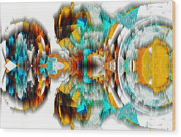 Wood Print featuring the digital art Untitled Series 992.042212 -c by Kris Haas