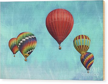 Wood Print featuring the photograph Up Up And Away 2 by Benanne Stiens