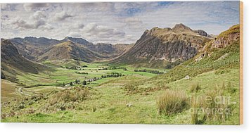 Wood Print featuring the photograph Upper Langdale, English Lake District by Colin and Linda McKie