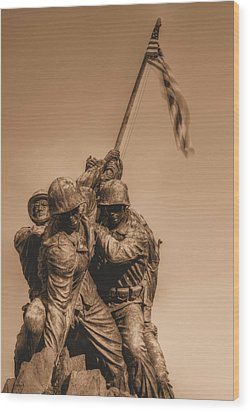 Usmc Wood Print by JC Findley