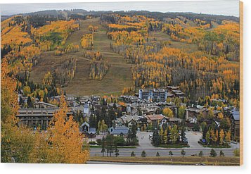 Vail Colorado Wood Print by Fiona Kennard