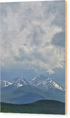 Wood Print featuring the photograph Vail Colorado Series 2 by Steven Richman