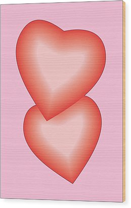 Valentine Hearts Wood Print